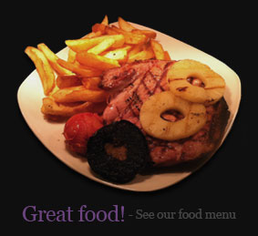 Great food - See our menu